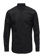 SLHSLIMPRESTON-CLEAN SHIRT LS B NOOS - BLACK