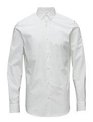 SLHSLIMPRESTON-CLEAN SHIRT LS B NOOS - BRIGHT WHITE