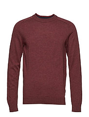 SLHNEWBLADE SILK CREW NECK B - CHOCOLATE TRUFFLE