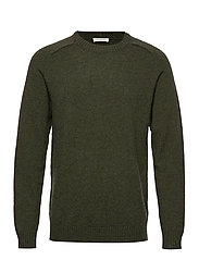 SLHNEWCOBAN WOOL CREW NECK W - ROSIN