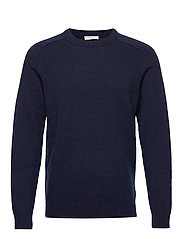 SLHNEWCOBAN WOOL CREW NECK W - SKY CAPTAIN