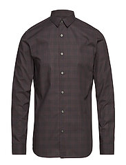 SLHREGARON SHIRT LS CHECK B - GREY