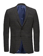SLHSLIM-CELLOGAN GREY CHECK  BLZ B NOOS - MEDIUM GREY MELANGE