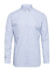 SLHSLIMPEN-BRED SHIRT LS STRIPES B - WHITE