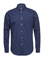SLHSLIMNOLAN SHIRT LS MIX W - DARK BLUE