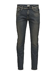 SLHSLIM-LEON 1452 L.BLUE ST JEANS W NOOS - LIGHT BLUE DENIM