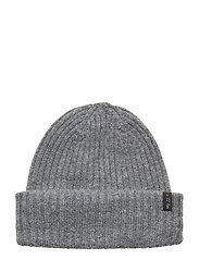 SLHMERINO CARDIGAN BEANIE W - MEDIUM GREY MELANGE