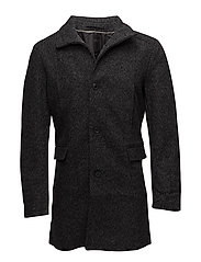 SLHMOSTO WOOL COAT B NOOS - BLACK