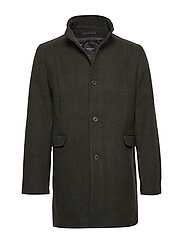 SLHMOSTO WOOL COAT B NOOS - FOREST NIGHT