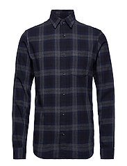 SLHREGCARTER SHIRT LS CHECK W - DARK NAVY