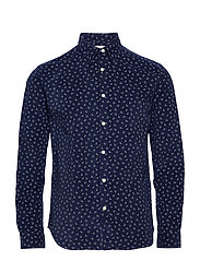 SLHREGRAYSON-CORD SHIRT LS MIX W - DARK BLUE