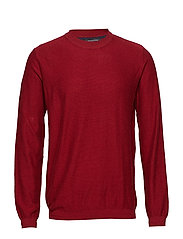 SLHPAGE CASHMERE CAMP CREW NECK B - TRUE RED