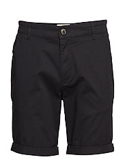 SLHSTRAIGHT-PARIS SHORTS W NOOS - BLACK