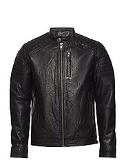SLHLIMA LEATHER JACKET EX - BLACK