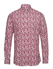 SLHSLIMNEO SHIRT LS AOP B - RIO RED