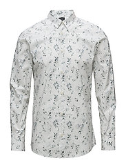 SLHSLIMLIT-HEIMDAL SHIRT LS DIGITAL EX - BRIGHT WHITE