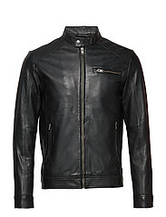 SLH C-01 CLASSIC LEATHER JACKET W NOOS - BLACK