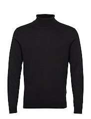 SLHTOWER COT ROLL NECK B EX - BLACK