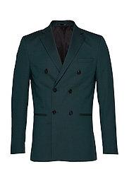 Slhslim-Daxlogan Db Green Struc Blazer B Blazer Dressjakke Grønn SELECTED HOMME