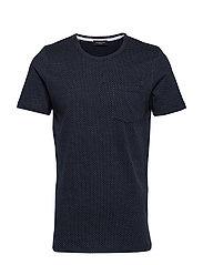 Slhmute Ss O-Neck Tee B T-shirts Short-sleeved Blå SELECTED HOMME