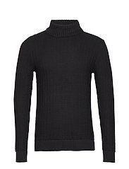 SLHROLF STRUCTURE HIGH NECK W - BLACK