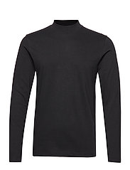 SLHCLAIR LS HIGH NECK TEE B - BLACK