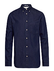 SLHREGLANDON-PERFECT SHIRT MIX LS W - DARK BLUE