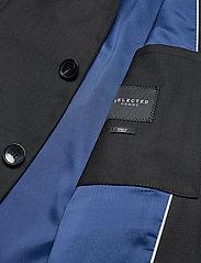 Selected Homme - SLHSLIM-MYLOSTATE FLEX BLACK BLZ B - single breasted blazers - black - 4