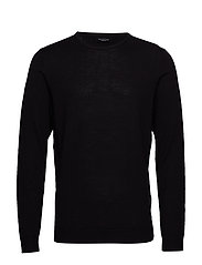 SLHTOWER NEW MERINO CREW NECK B NOOS - BLACK