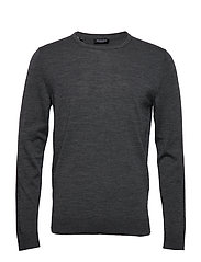 SLHTOWER NEW MERINO CREW NECK B NOOS - MEDIUM GREY MELANGE