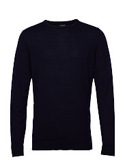 SLHTOWER NEW MERINO CREW NECK B NOOS - NAVY BLAZER