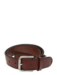 SLHTERREL LEATHER BELT NOOS W - COGNAC