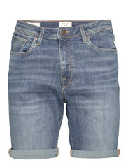 SLHALEX 329 MBLUE SU-ST DNM SHORT W NOOS - MEDIUM BLUE DENIM