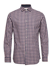 SLHSLIMMARK-WASHED SHIRT LS W - RED DAHLIA