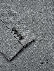 Selected Homme - SLHHAGEN  WOOL COAT B - wollen mantels - grey melange - 4