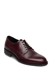 SLHLOUIS LEATHER DERBY SHOE B - CHESTNUT