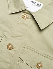 Selected Homme - SLHELLIOT LINEN SHIRT JACKET W - kleding - tea - 3