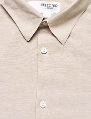 Selected Homme - SLHSLIMNEW-LINEN SHIRT LS CLASSIC W - chemises à carreaux - crockery - 2