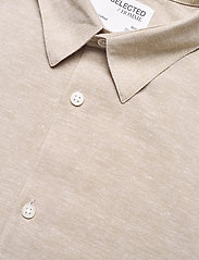 Selected Homme - SLHSLIMNEW-LINEN SHIRT LS CLASSIC W - chemises à carreaux - crockery - 3