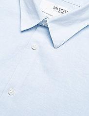 Selected Homme - SLHSLIMNEW-LINEN SHIRT LS CLASSIC W - koszule w kratkę - skyway - 3