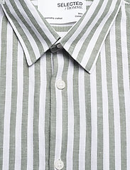 Selected Homme - SLHSLIMNEW-LINEN SHIRT LS CLASSIC W - geruite overhemden - smoke green - 2