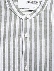 Selected Homme - SLHSLIMNEW-LINEN SHIRT LS CHINA W - koszule w kratkę - smoke green - 2