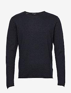 SHDDOME CREW NECK NOOS - langærmede t-shirts - dark sapphire