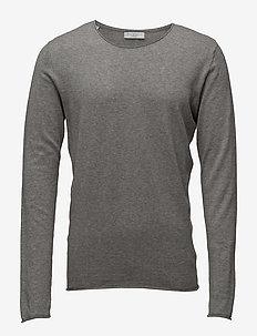 SHDDOME CREW NECK NOOS - langærmede t-shirts - medium grey melange