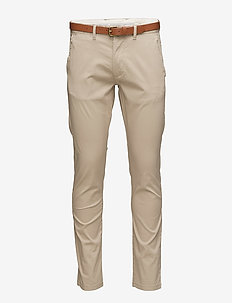 SLHSLIM-YARD WHITE PEPPER PANTS W NOOS - chinos - white pepper