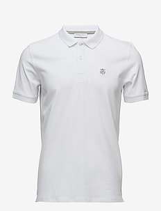 SHDARO SS EMBROIDERY POLO NOOS - korte mouwen - bright white