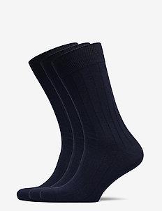 SLHPETE 3-PACK COTTON RIB SOCK NOOS - regular socks - navy blazer