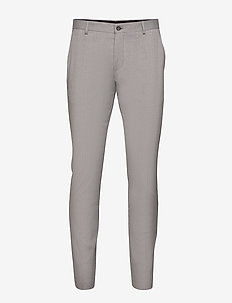 SLHSLIM-MYLOLOGAN LIGHT GREY TRS B NOOS - suitbukser - light grey melange