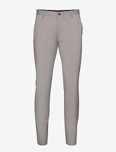 SLHSLIM-MYLOLOGAN LIGHT GREY TRS B NOOS - suit trousers - light grey melange
