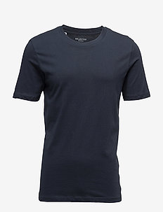 SLHTHEPERFECT SS O-NECK TEE B NOOS - short-sleeved t-shirts - dark sapphire